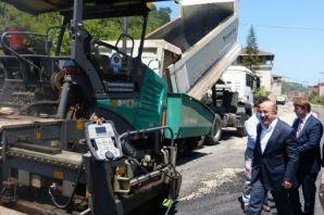 Büyükşehirden 2017 yılında yollara 298 bin ton asf