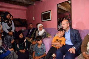 Bakan Soylu, Ağrı'da taziye ziyaretinde