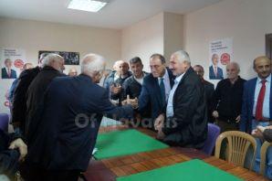 CHP'li Hurşit Güneş Of İlçe Örgütünü ziyaret etti