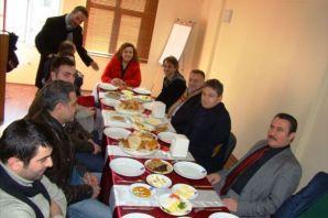 Of TSO, Moskova'nın Şifresi ekibiyle kahvaltıda