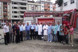 Of Devlet Hastanesi'nde yangın tatbikatı