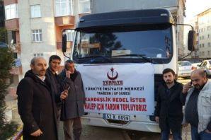 Oflu Esnaf Karaahmetoğlu'ndan Halep'e 1 kamyon yar