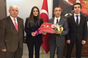 Öğretmenlerden Kaymakam Arslan'a 24 Kasım ziyareti