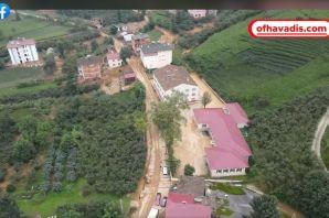 Of Havadis'in Dronu Fındıkoba'daki selin izlerini görüntüledi