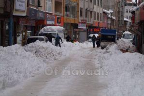Of ve Trabzon Büyükşehir kar temizleme