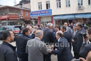 Vali Öz ve Başkan Gümrükçüoğlu Of'ta