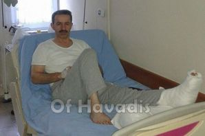 Yaşar Osmanoğlu parmağını kopardı
