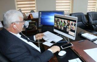 Milli Eğitim Müdürleri video konferans toplantıda...