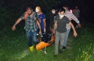 Saraçlı'da kayalıktan düşen Afganlı vefat...