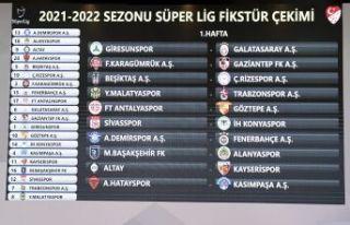 Süper Lig'de 2021-2022 sezonunun fikstür çekimi...