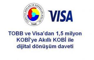 TOBB ve VİSA'dan 1,5 milyon KOBİ'ye dijital...
