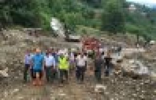 Araklı'da hasar tespit çalışmaları masaya yatırıldı