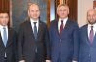 Başkanlar ve Kaymakamdan Soylu'ya ziyaret