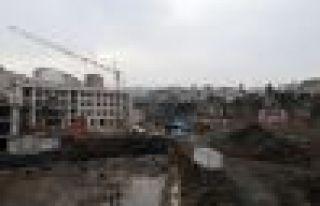 Cudibey Ortaokulu ve öğretmenevi inşaatı hızla...