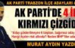 Murat Aydın ilçe adaylarını yorumladı;