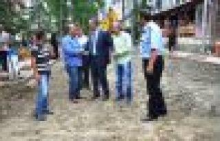 Of Belediyesi Peyzaj düzenlemeleri ile güzelleştiriyor