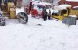 Trabzon'da kar mücadelesi aralıksız sürdürülüyor...