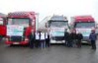 Trabzon'dan Afrin halkına 3 TIR yardım