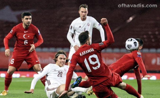 Devleri deviren Millilerimiz Letonya'yı yine yenemedi