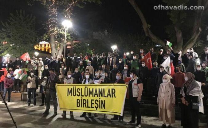 İHH'dan terörist İsrail'e tepki, Kudüs'e destek gösterisi