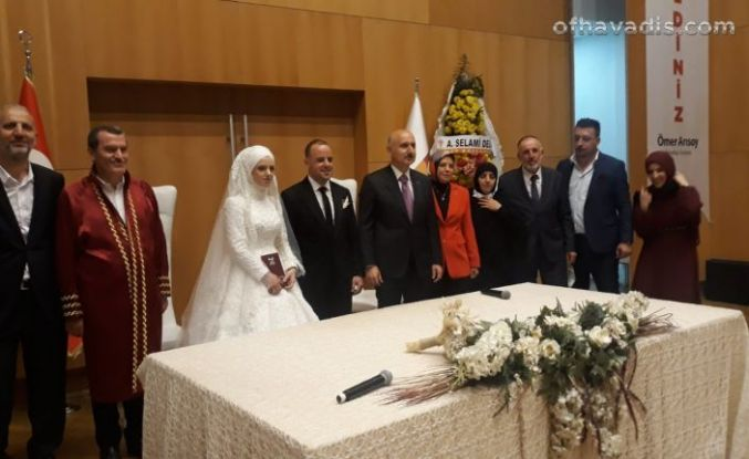 Bakan Karaismailoğlu nikah şahidi oldu