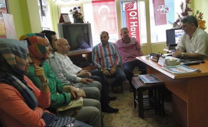Ak Parti Of İlçe Yönetimi Of Havadis'i ziyaret etti