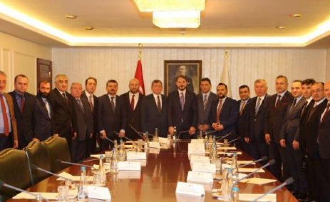 İlçe Başkanlarından Bakan Albayrak'a ziyaret