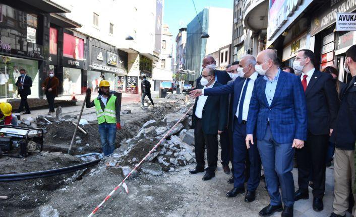 Bakan Karaismailoğlu Trabzon'da altyapı çalışmalarını inceledi